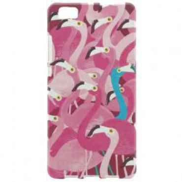 Huawei P8 Lite silikoonkaitse helendav flamingod