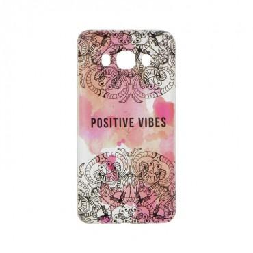 Huawei P8 Lite silikoonkaitse Positive Vibes