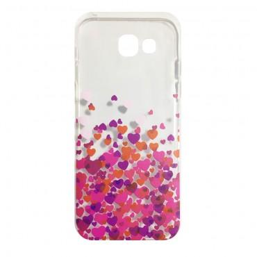 Samsung S7 / G930 silikoonkaitse Hearts Purple