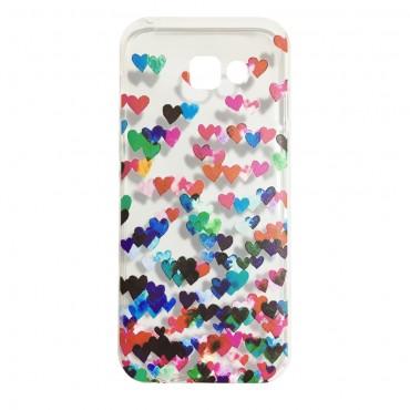 Samsung S7 / G930 silikoonkaitse Hearts värviline
