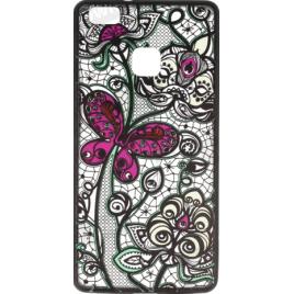 Samsung A5 (2016) / A510 silikoonkaitse Art Flower must