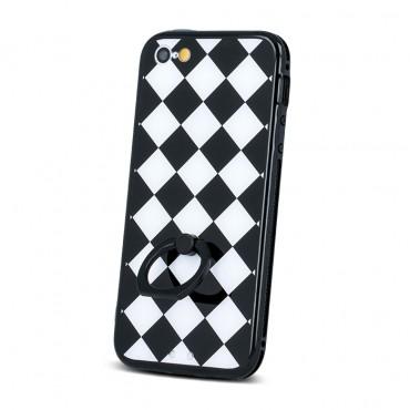 Samsung A5 (2016) / A510 silikoonraamiga plastikkaitse Grid must-valge
