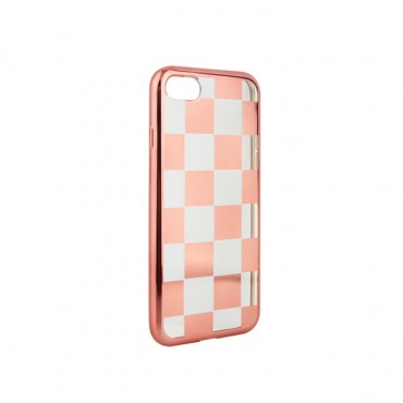 Apple Iphone 7 Plus / 8 Plus silikoonkaitse Chess roosa-kuldne