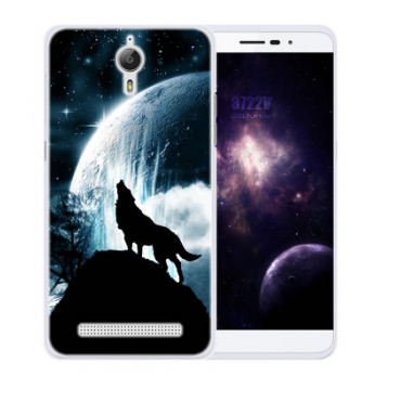 Coolpad Porto S silikoonkaitse Lonely Wolf
