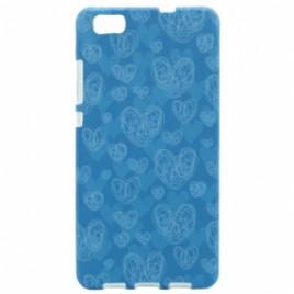 Apple Iphone 7 / 8 silikoonkaitse helendav helesinised südamed