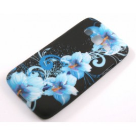 Samsung G3815 Express II silikoonkaitse sinised lilled