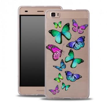 Xiaomi Redmi Note 4 / Note 4X silikoonkaitse õhuke läbipaistev Butterflies