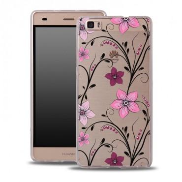 Samsung S8 / G950 silikoonkaitse õhuke läbipaistev Pink Flowers