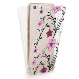 Huawei P8 Lite silikoonkaitse 360 õhuke läbipaistev Flowers