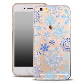 Apple Iphone 6 Plus / 6s Plus silikoonkaitse õhuke läbipaistev Snowflake
