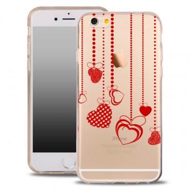 Apple Iphone 7 Plus / 8 Plus silikoonkaitse õhuke läbipaistev Hearts