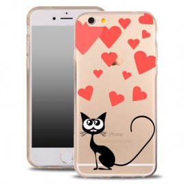 Apple Iphone 7 / 8 silikoonkaitse õhuke läbipaistev Cat Hearts