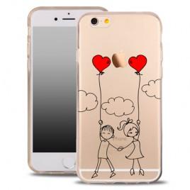 Samsung S7 / G930 silikoonkaitse õhuke läbipaistev Hearts Friends