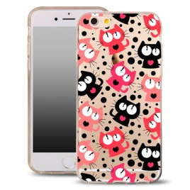 Apple Iphone 6 Plus / 6s Plus silikoonkaitse õhuke läbipaistev Cats Power