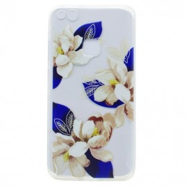 Huawei P10 Lite silikoonkaitse Art White Flower