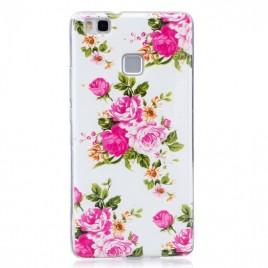 Huawei P9 Lite silikoonkaitse Art Flower valge