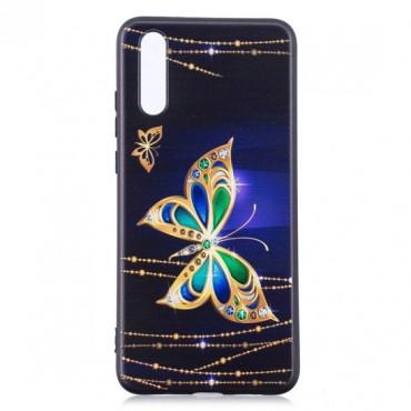 Huawei P20 silikoonkaitse Butterfly