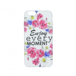 Apple Iphone 5 / 5s / SE silikoonkaitse Flowers white