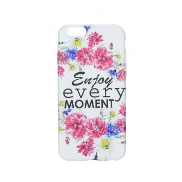 Samsung J7 (2016) / J710 silikoonkaitse Flowers white