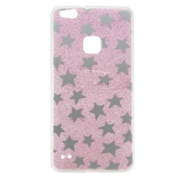 Huawei P10 Lite silikoonkaitse Stars roosa