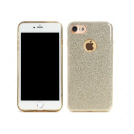 Apple Iphone 6 / 6s Remax silikoonkaitse Glitter kuldne