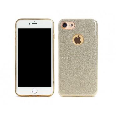 Apple Iphone 7 / 8 Remax silikoonkaitse Glitter kuldne