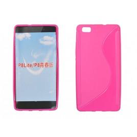 Huawei P8 lite silikoonümbris roosa