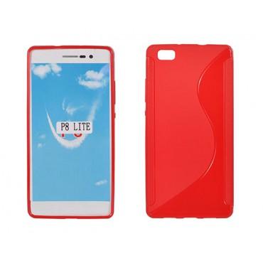 Huawei P8 lite silikoonümbris punane