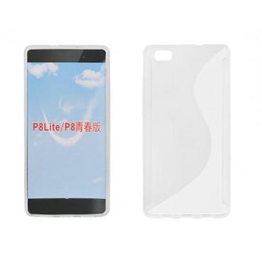 Huawei P8 lite silikoonümbris läbipaistev