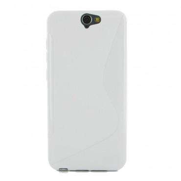 HTC One A9 silikoonkaitse valge