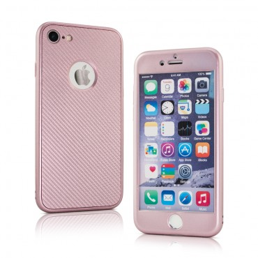 Apple Iphone 5 / 5s / SE silikoonkaitse 360 Carbon Pink