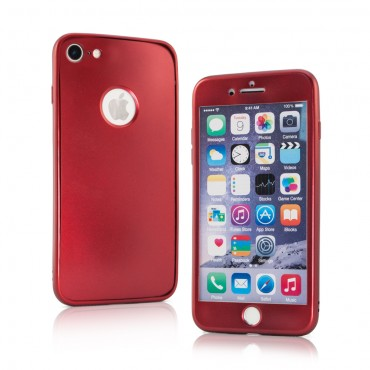Apple Iphone 7 Plus / 8 Plus silikoonkaitse 360 Matt Red