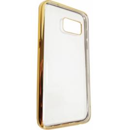 Samsung G935 Galaxy S7 Edge Fancy silikoonkaitse Kuldse äärega