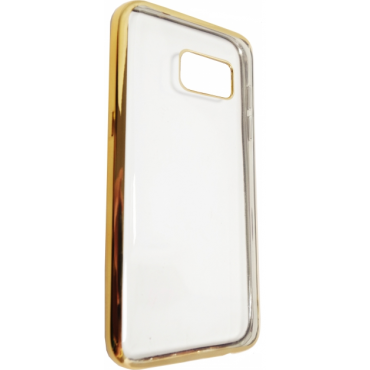 Samsung J7 (2016) / J710 Fancy silikoonkaitse Kuldse äärega