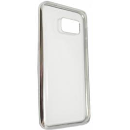 Samsung G935 Galaxy S7 Edge Fancy silikoonkaitse hõbedase äärega