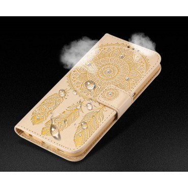 Apple Iphone 5 / 5s / SE Crystal Dreamcatcher Book kaitsekott kuldne