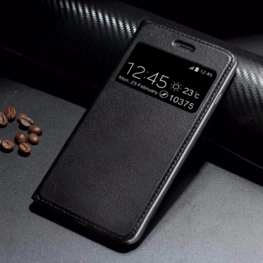 Huawei Mate 10 Leather View Book kaitsekott must