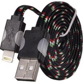 Apple Iphone 5/ 5C/ 5S/ 6/ 6+/ 6S/ 6S+ / 7 / 7 Plus / 8 / 8 Plus ja Ipad 4/ Air LED Nylon USB-kaabel