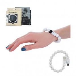 Beeyo käevõru - USB laadimiskaabel MicroUSB valge