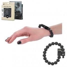 Beeyo käevõru - USB laadimiskaabel MicroUSB must